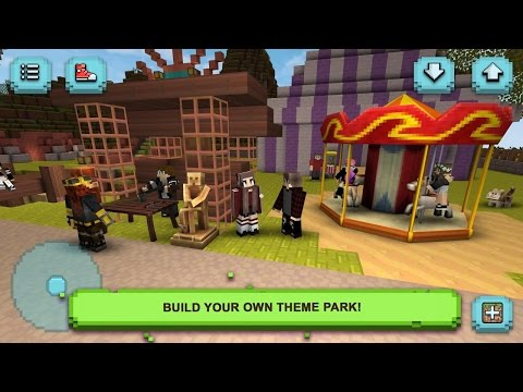Theme Park Craft: Build & Ride Android Gameplay