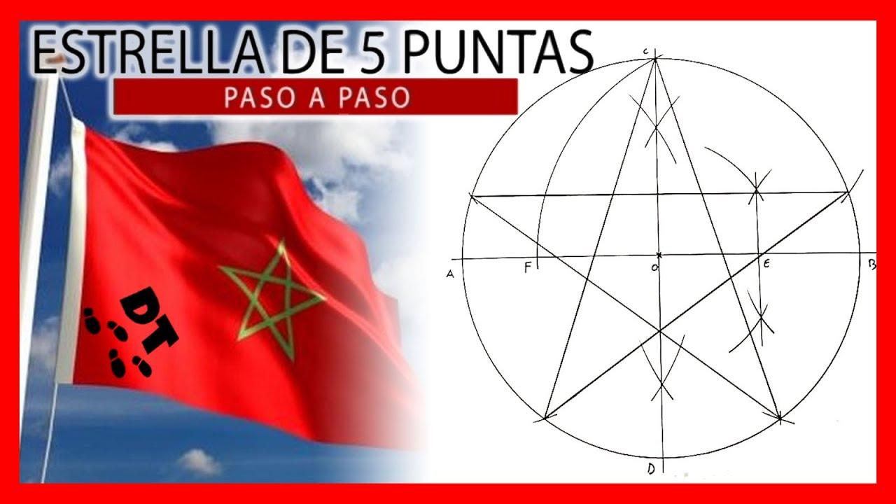 Como Construir Una Estrella De 5 Puntas Polígonos Estrellados Dibujo Técnico Paso A Paso Youtube