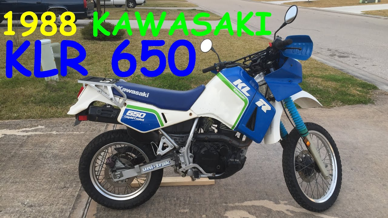 1988 Kawasaki Klr 650 Walkaround Review Project Bike