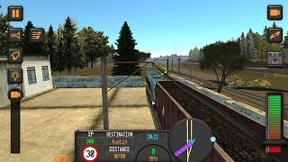 Train driving 2018 gameplay || best train simulator Android game | HD gameplay video.