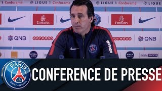 PRESS CONFERENCE UNAI EMERY PARIS SAINT-GERMAIN - GUINGAMP