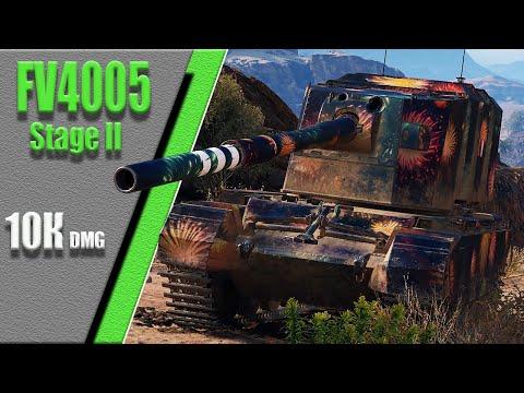 FV4005 Stage II, карта Эль-Халлуф, 10.2К dmg, 5 kills.  WoT 1.7.0. 2К VIDEO.