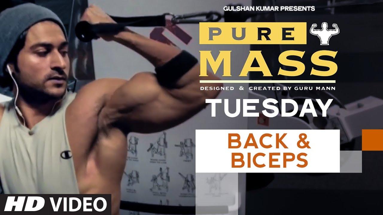 Workout Calendar By Guru Mann : Tuesday back biceps workout pure mass program
