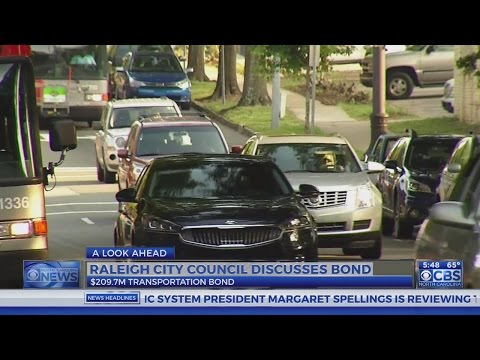 Raleigh City Council to discuss $209M transportation bond