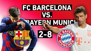 Culers knew bayern munich were better than barcelona. but there was still hope. over eight goals, the bavarians destroyed all hope and sent blaugrana hom...