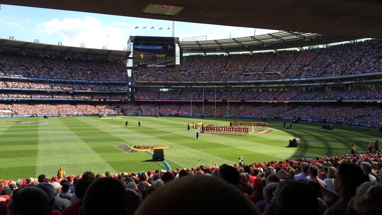 Advance Australia Fair at the 2014 AFL Grand Final Opening Ceremony