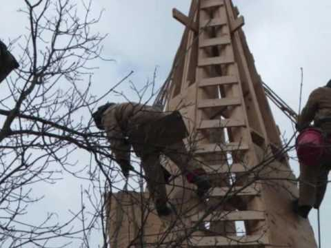 Steeplejacks Building a Steeple