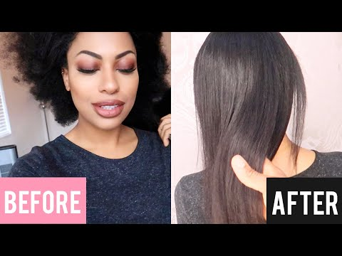 GETTING A BRAZILIAN BLOW OUT ON CURLY HAIR  BEFORE AND AFTER