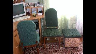33. Вяжем для дома. Чехлы на стулья.