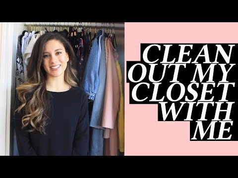 Clean with Me Capsule Wardrobe Minimalism Spring Cleaning and Organization