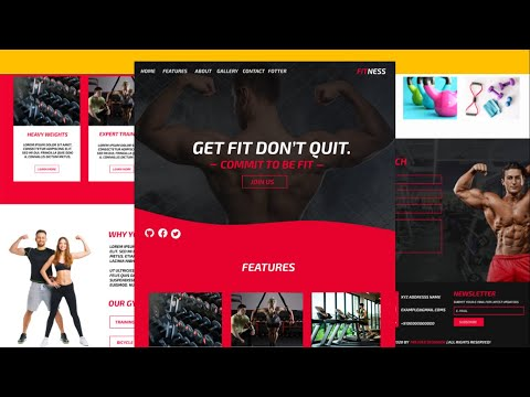 How To Make Complete Responsive FITNESS Website Using HTML/CSS ( SASS )/JQUERY From Scratch