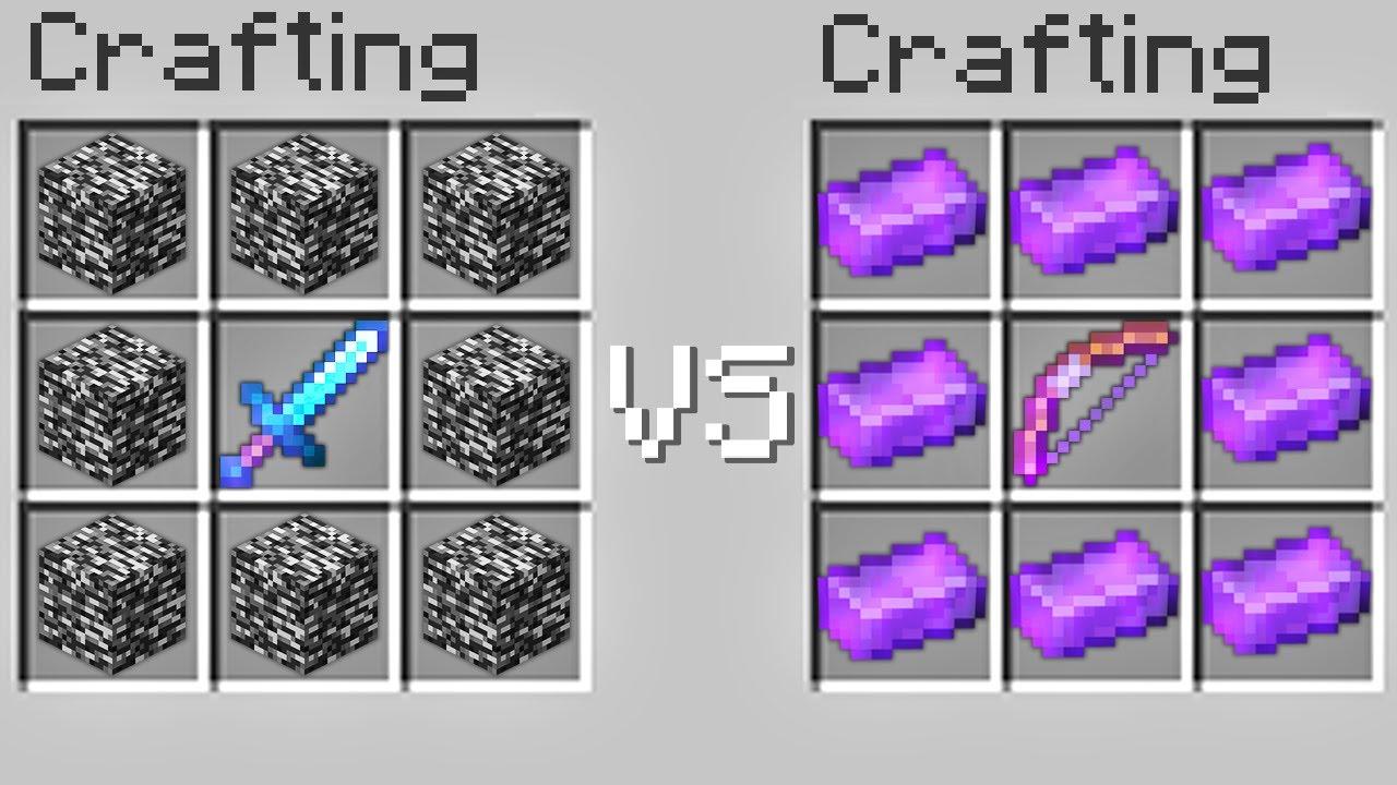 Minecraft, But It's Bedrock Sword vs Netherite Bow..