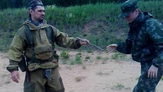 Работа с детьми в военно-патриотических лагерях. Часть 1. Уроки рукопашки...