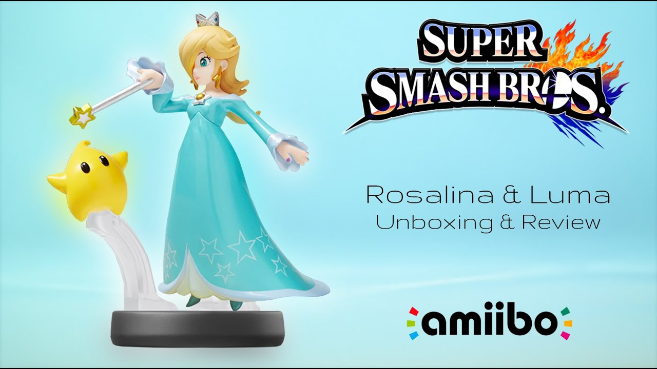 Rosalina & Luma Amiibo Unboxing & Review | Super Smash ...