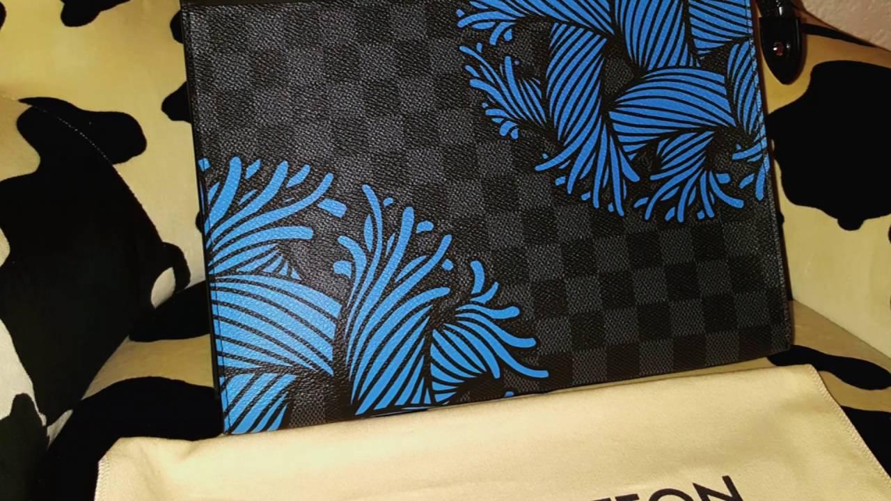 Unboxing Louis Vuitton Pochette Voyage Rope Blue - M62260 - YouTube 8a84b9bf80d02