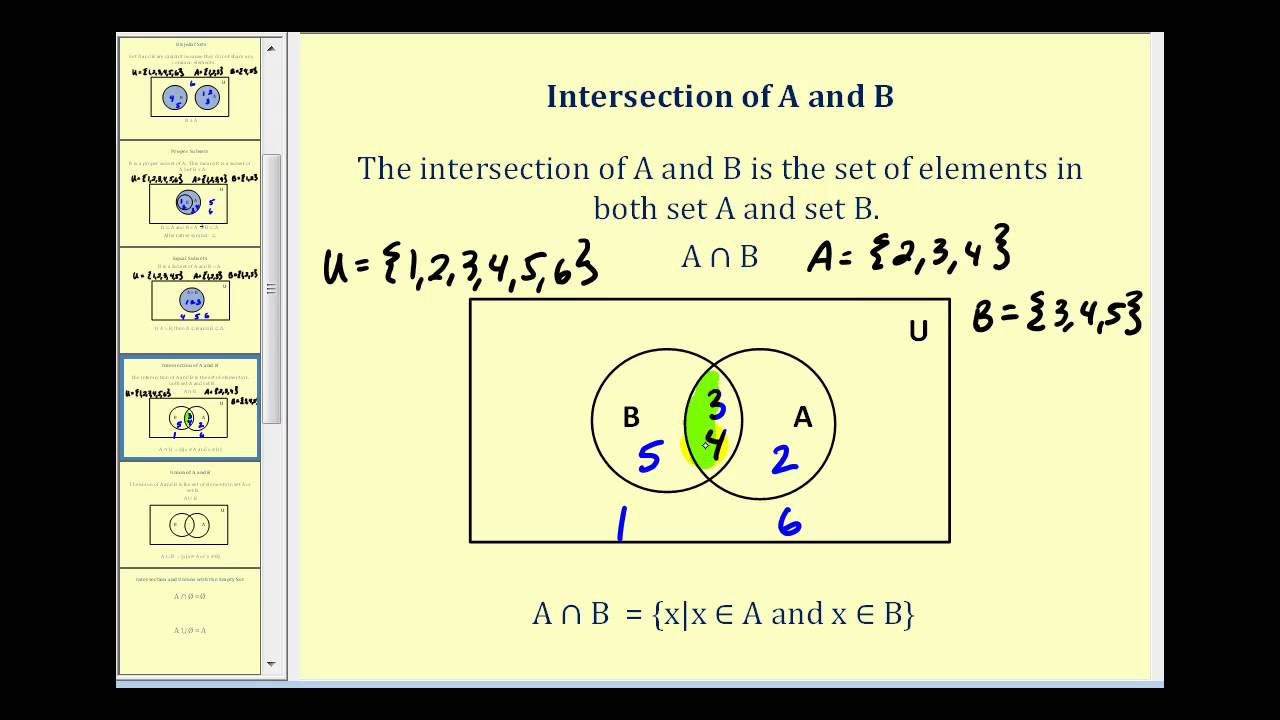 Set Operations And Venn Diagrams