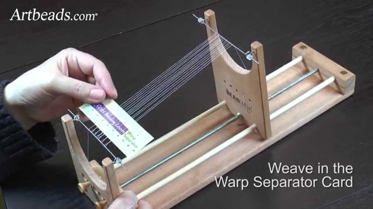 Artbeads Quick Tutorial How To Set Up The Warp Threads
