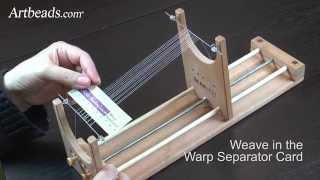 Artbeads MiniVid - How to Set up the Warp Threads on The Ricks Beading Loom