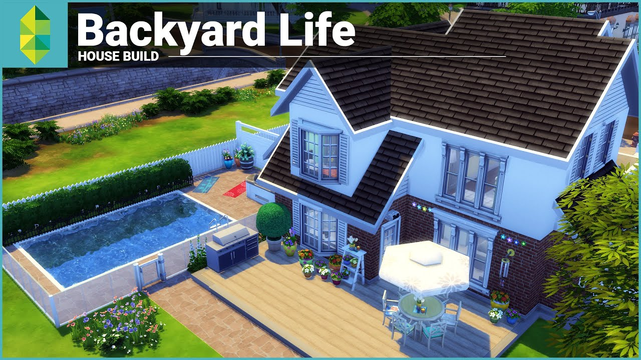 The sims 4 house building backyard life youtube for Pool designs sims 4