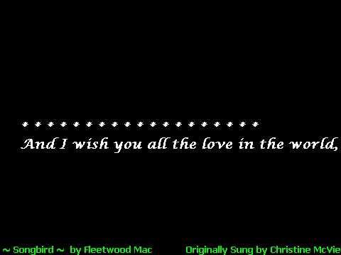 FleetwoodMac ~ Songbird (karaoke)