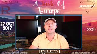 DJ Leo Performing at A Taste of Europe | 27th Oct | Randlords