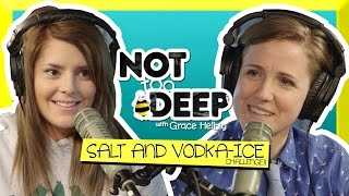SALT AND VODKA (ICE) CHALLENGE (ft Hannah Hart) // Grace Helbig Thumbnail