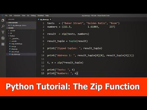 Python Beginner Tutorial : Zip Function thumbnail