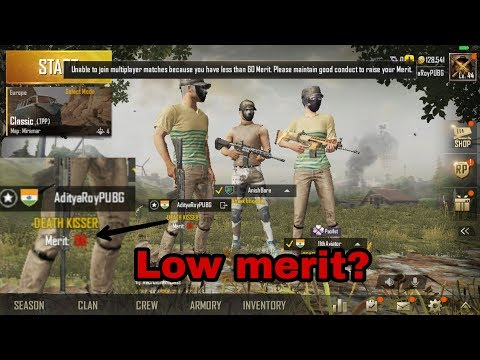 CAUSES AND SOLUTION of Low Merit in PUBG mobile | 0.7.0 update | GTA-Game And Tech By Aditya