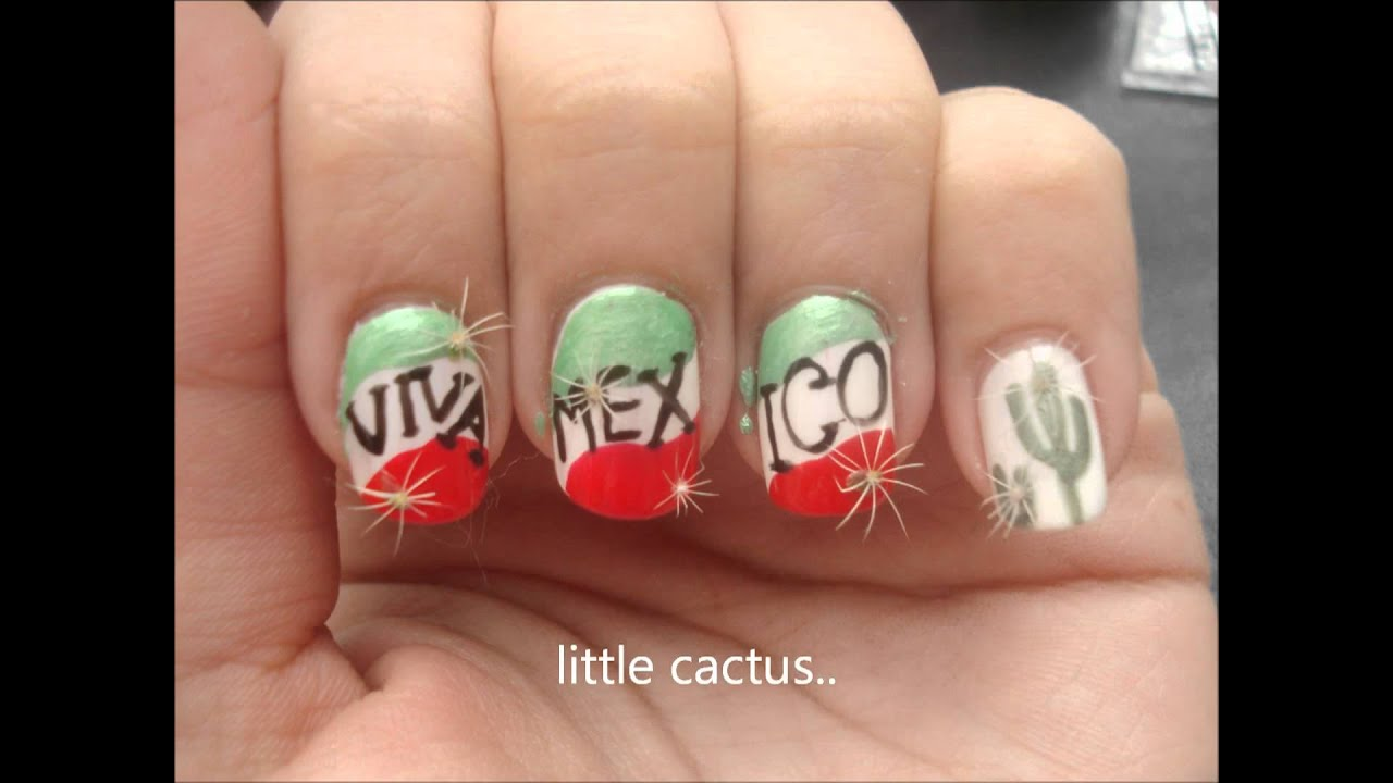 Mexico Inspired Nail Design Youtube