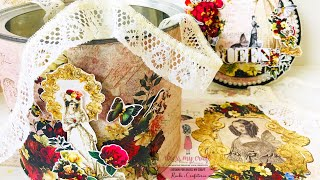 How To Decoupage With Rice Paper | DIY- Altered Tin Box | Dress My Craft