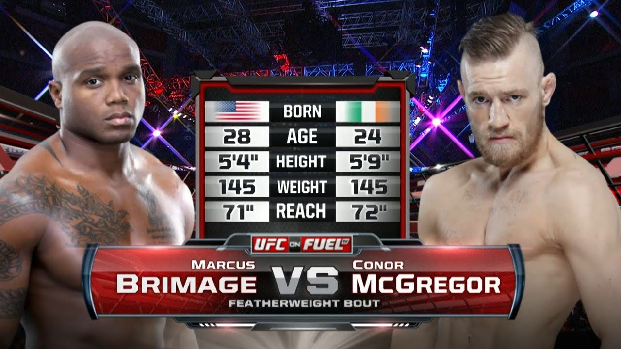 Ufc Debut Conor Mcgregor Vs Marcus Brimage Free Fight Youtube