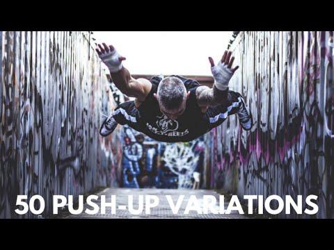 50 PUSH-UP VARIATIONS - BEGINNER, INTERMEDIATE & ADVANCED