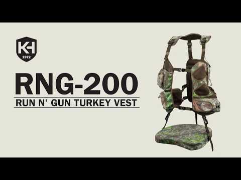 Knight /& Hale Run N Gun 200 Turkey Vest Realtree Edge