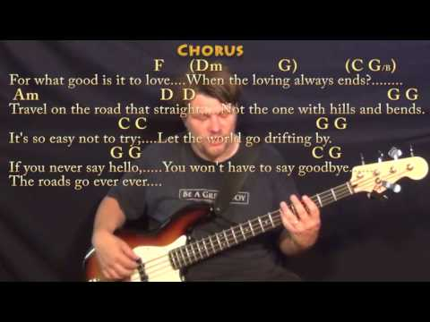 It's So Easy Not to Try (Glenn Yarbrough) Bass Guitar Cover Lesson in C with Chords/Lyrics