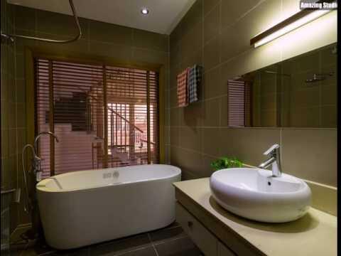 Kleines modernes Badezimmer mit einem herrlichen Freistehende Badewanne