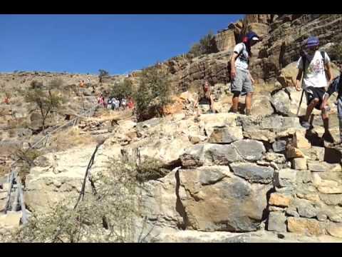 School trekking in Oman