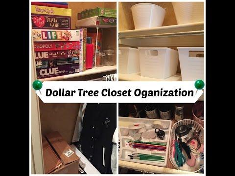 DOLLAR TREE Craft Closet Organization!!!