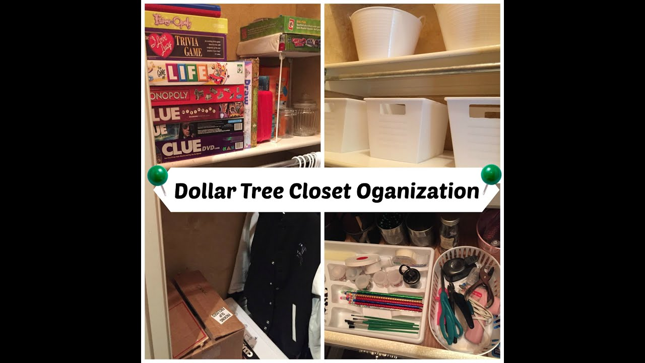 DOLLAR TREE Craft Closet Organization!!!