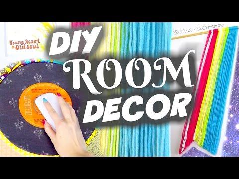DIY ROOM DECOR IDEAS 2017 - Mouse Pad & Wall Art - Vintage Theme // SoCraftastic