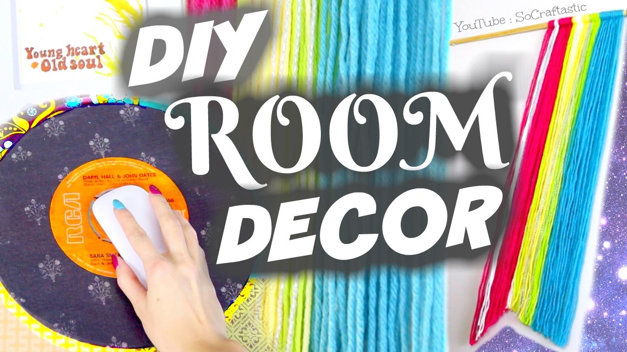 Diy Vintage Room Decor Ideas Wall Art Mouse Pad Socraftastic Youtube
