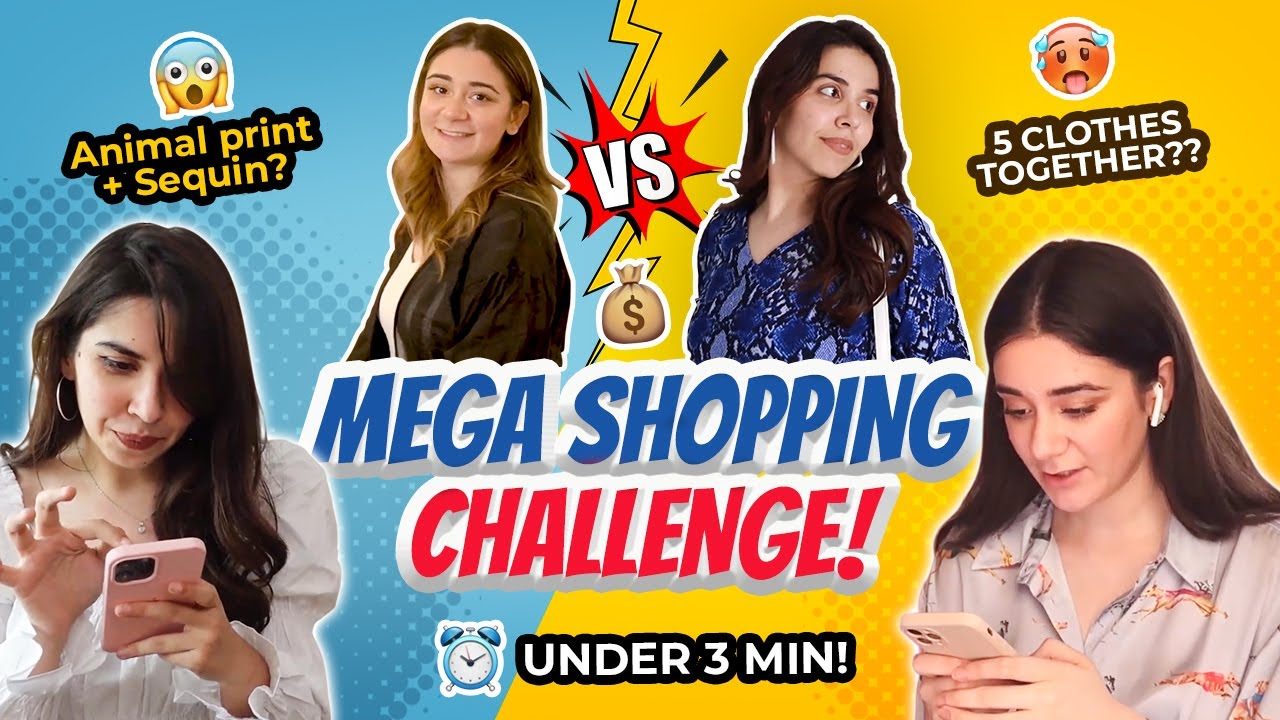 *INSANE* SHOPPING CHALLENGE from MYNTRA ft @Sana Grover !💰 WHO WON? 🛍️ | Heli Ved