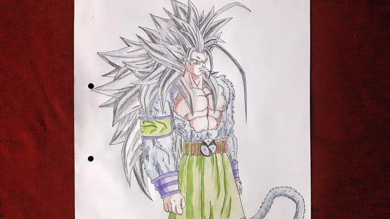 Drawing Goku Super Saiyan 5 Dragon Ball Af Speed Drawing Time Lapse