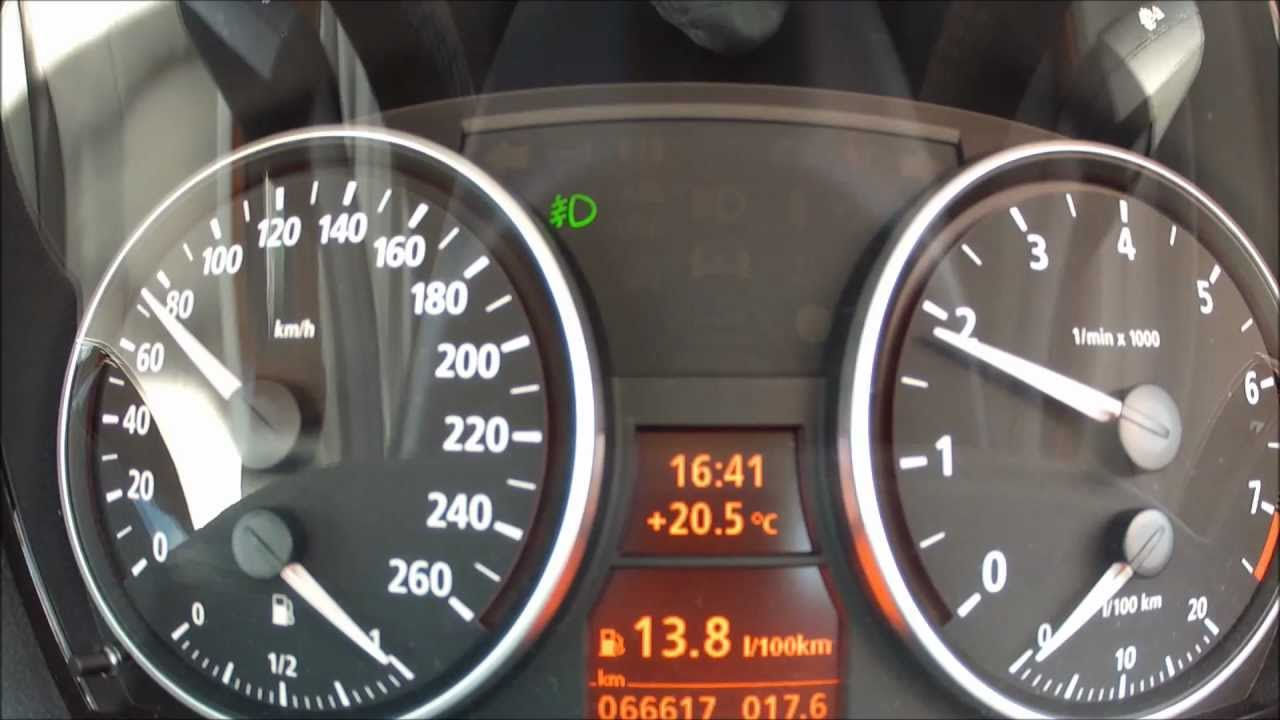 Bmw E90 330i Manual Instrument Cluster View Full Hd Youtube