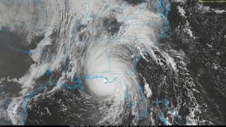 Hurricane Michael, U.S. October 2018, satellite and radar loop
