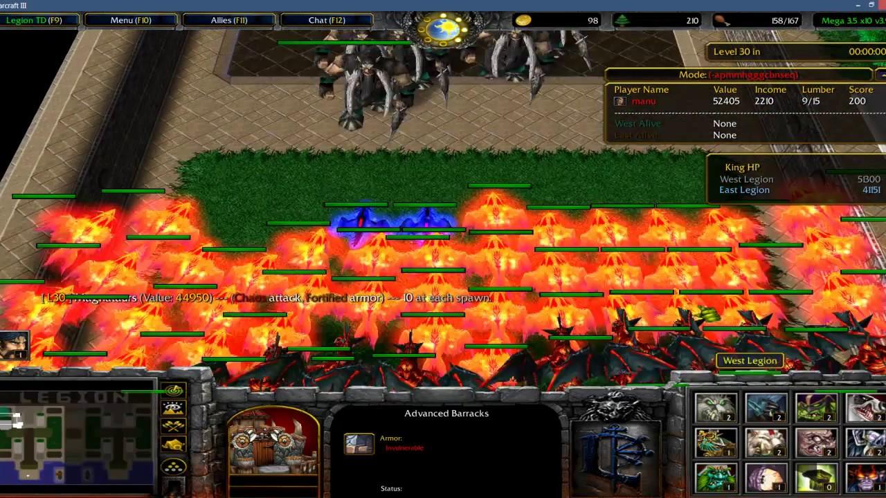 Warcraft 3 - Legion TD 3 5 10x - Level 30 !!!!!