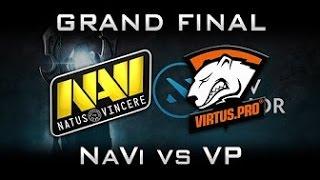 Virtus pro vs Na'Vi, game 1, Grand Final, Kiev Major,  best game, лучшая игра, Русские комментаторы
