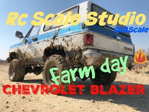 Rc Scale Studio Model 4x4 1:10  Rc4wd Trail Finder 2 Chevrolet Blazer K5 Mud Run