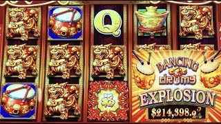 ★YES ! BETTER THAN A JACKPOT☆DANCING DRUMS EXPLOSION Slot $185 Free Play Live $5.88 Bet☆San Manuel