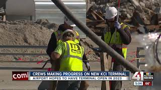 Foundation work begins for new KCI single-terminal project