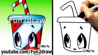 Kawaii Food - How to Draw Kawaii EASY - Soda pop drink
